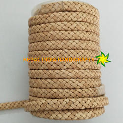 Natural Oval Flat Bracelet Braided Leather Cord