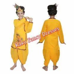 Krishna In Cotton Dress