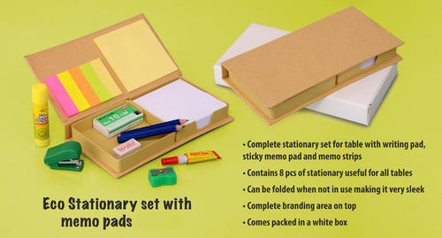 Paper Eco Stationary Set with Memo Pads