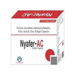 Ferrous Ascorbate Adenosylcobalamin Folic Acid And Zinc Softgel Capsules