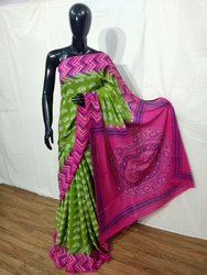 Casual Wear Pigment Printed Mulmul Cotton Saree, 6.3 m (with blouse piece), Machine Made