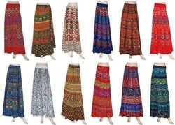 Y Wrap Cotton Skirt