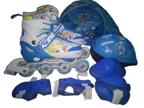 5489f11d0cb5f1 Blue Pink And Purple Inline Skate Shoes Adjustable Shoes Contact For Best  Price
