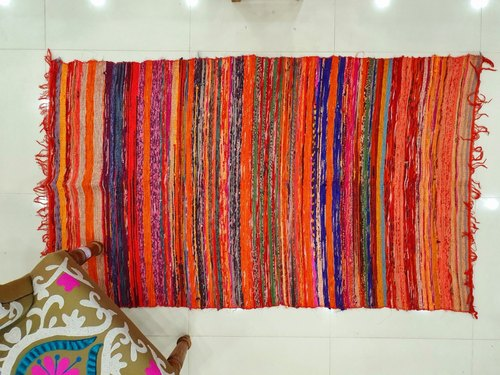 Indian Handmade Chindi Cotton Rug Door Mat