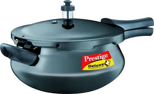 7559cddf274 Prestige Deluxe Plus Hard Annodised Pressure Handi 4.8 L Pressure Cooker  With Induction Bottom (Har