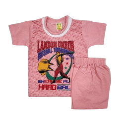 Cotton Kids Pink Baba Suit
