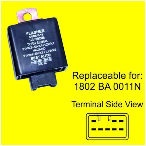 Automotive Flashers - Flasher - Universal - 12V / 24V - 38610M78320