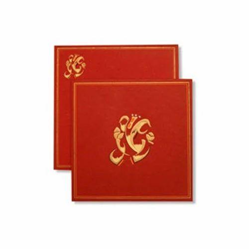 red paper housewarming invitation card  rs 30   piece  sri hari cards  u0026 stationers