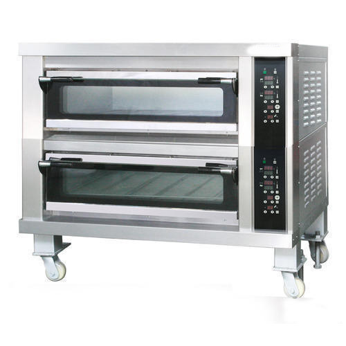 Stainless Steel Double Deck Baking Oven Size 1210 X 810