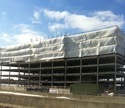 White Woven Construction Site Pe Tarpaulins