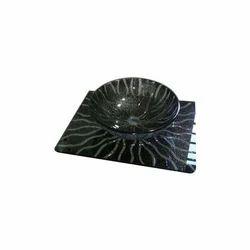 Printed Glass Wash Basin