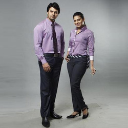 Light Purpe Cotton Corporate Uniform, Size: Small, Medium, Large, XL