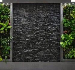 Wall Fountain Black Stone Cladding