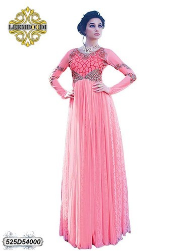 045ed6a9080 Pink Party Wear Designer Dress Gown