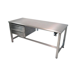 Stainless Steel Rectangular Work Table With Storage Cab
