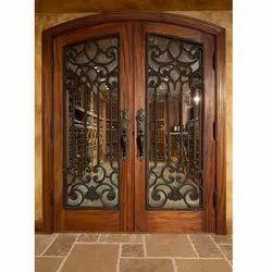 Wooden Iron Grill Door
