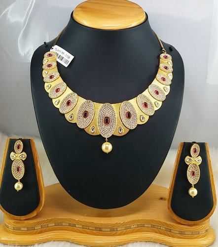 NP Brass Ruby Necklace Sets