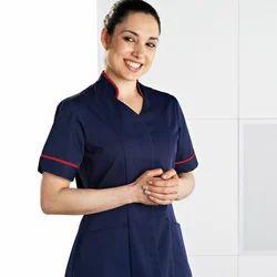 French Terrain Plain Hospital Uniform For Nurses, Size: Medium