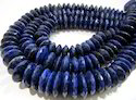 AAA Natural Lapis Lazuli German Cut Rondelle Faceted Beads