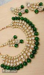 Kundan beads jwellery set