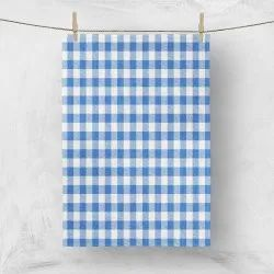 Cotton Multicolor Checked Woven Kitchen Towel, Size: 50x70cm, Model Name/Number: 010