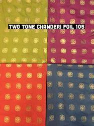 Two Tone Chanderi Foil Fabrics