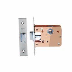 Tri Star Brass Mortise Latch Door Lock, Nickel