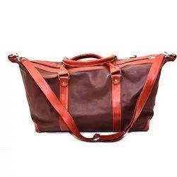 Brown Leather Boat Duffle Bag, For Corporate Gift