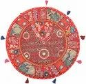 Vintage Patchwork Cushion Cover Red Big Sitting Pillows 22  Seating Tuffet Seat Pouf Cover 1 Pc