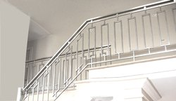 SS Pipes Staircase Railing