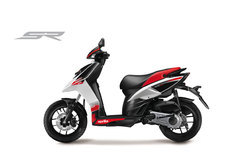 Red And Black Aprilia 150 Scooter