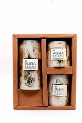 Gold Dust Pillar Candles Gift Set