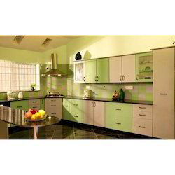 U Shape Laminated Modular Kitchen