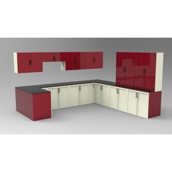 Rectangular Glossy Kitchen Cupboard