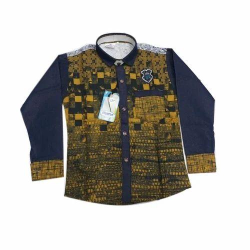 c211fdfe Cotton Party Wear Kids Printed Shirt, Rs 250 /piece, Original Plus ...
