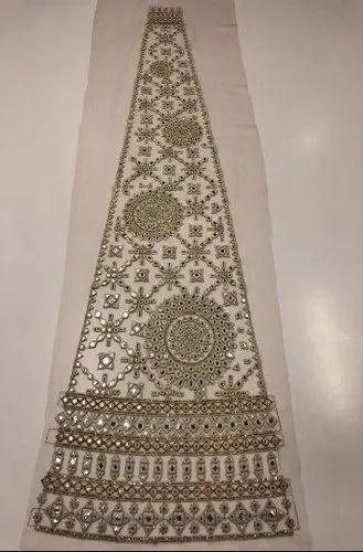Embroidery Net Lehenga Kali Fabric
