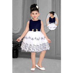Net Lace KIds Party Wear Frock, Age: 1 - 5 Years