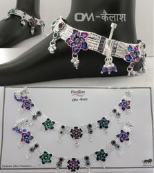 Chain Fancy Silver Payal