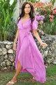 Plain Party Wear Wrap Maxi Dress, Age Group: Adults