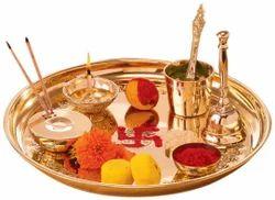 Brass Puja Thali (Non-FIxed )