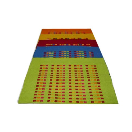 Cotton Multicolor Floor Rug, Packaging Type: Packet