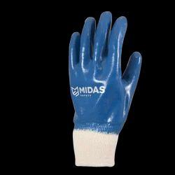 Nitrile Dipped Jersey Cuff Hand Glove Midas Make