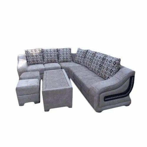 Designer Corner Sofa Set With 2 Stool