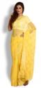 Yellow Georgette Saree with Chikankari