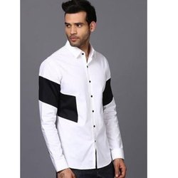 Mark Me Party Wear Full Sleeve Cotton Block Men Shirt