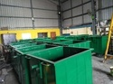 Stainless Bin Red Oxide And Bus Green Metal Compactor Bin (1.1 Cbm), Size: 1.1m L X 0.99m W X 1.3m H