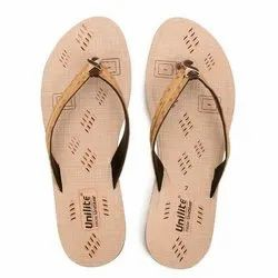 Women Beige PVC Fashion Slippers