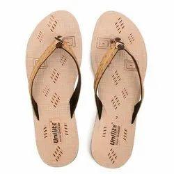 Women Beige PVC Fashion Slippers