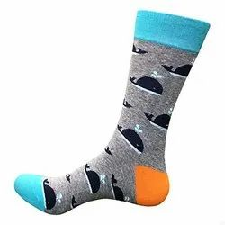 Women Printed Cotton Socks, Packaging Type: Packet, Size: Free Size