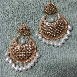 Danglers Golden Gold Plated Copper Earring